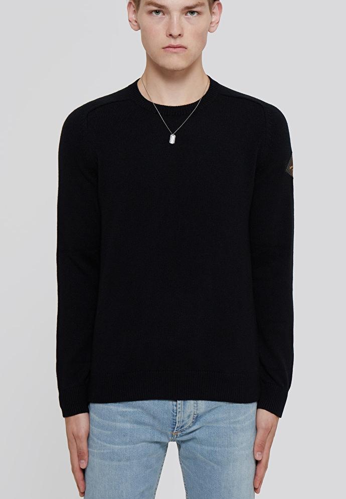 19FW 생로랑 584947 패치 스웨터