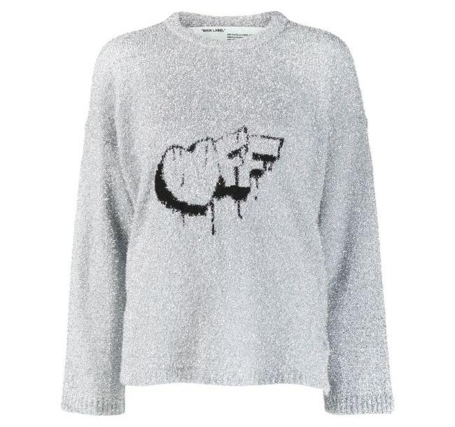 19FW 오프화이트 OWHE017 로고 스웨터