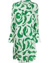 20SS 오프화이트 Owdb217 프린팅 드레스