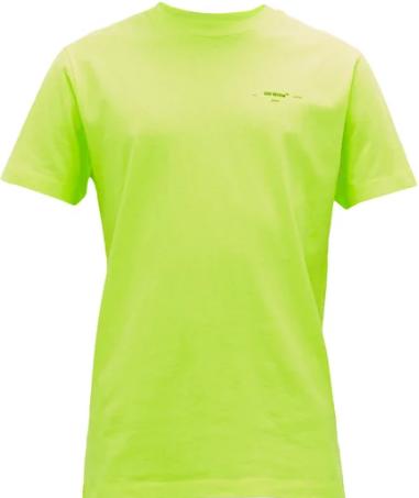 20SS오프화이트 로고 프린트 코튼 저지 티셔츠