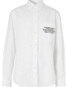 20 SS 버버리 로고 셔츠 화이트 8028220