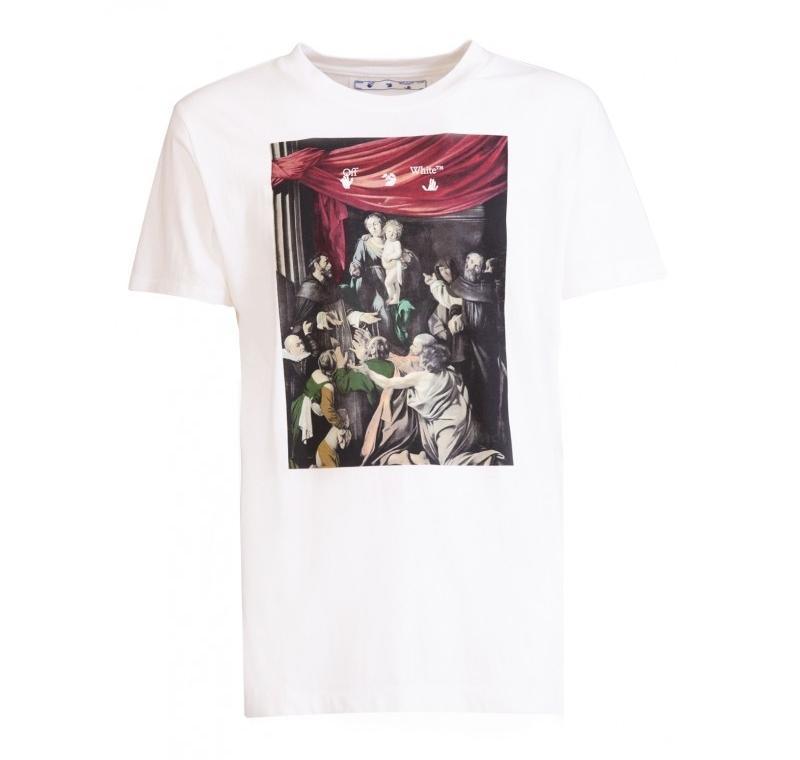 20FW 오프화이트 OMAA027 로고 티셔츠