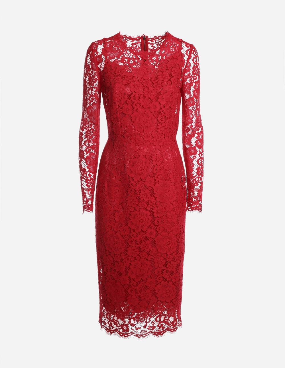 21SS 돌체앤가바나 F6H0YT 레이스 미디 드레스